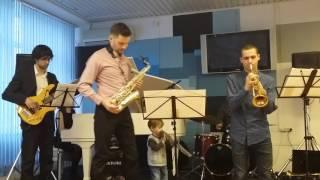 ''Jazz Quintet'' Московского Губернского Колледжа Искусств. Библионочь 2016. Библиотека А. Ахматовой