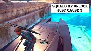 Squalo x7 unlock The fastest boat in the game Just Cause 3
