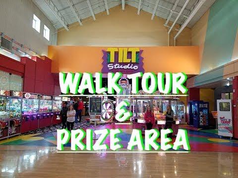 TILT STUDIO WALK TOUR AND PRIZE AREA GURNEE MILLS IN GURNEE,  IL