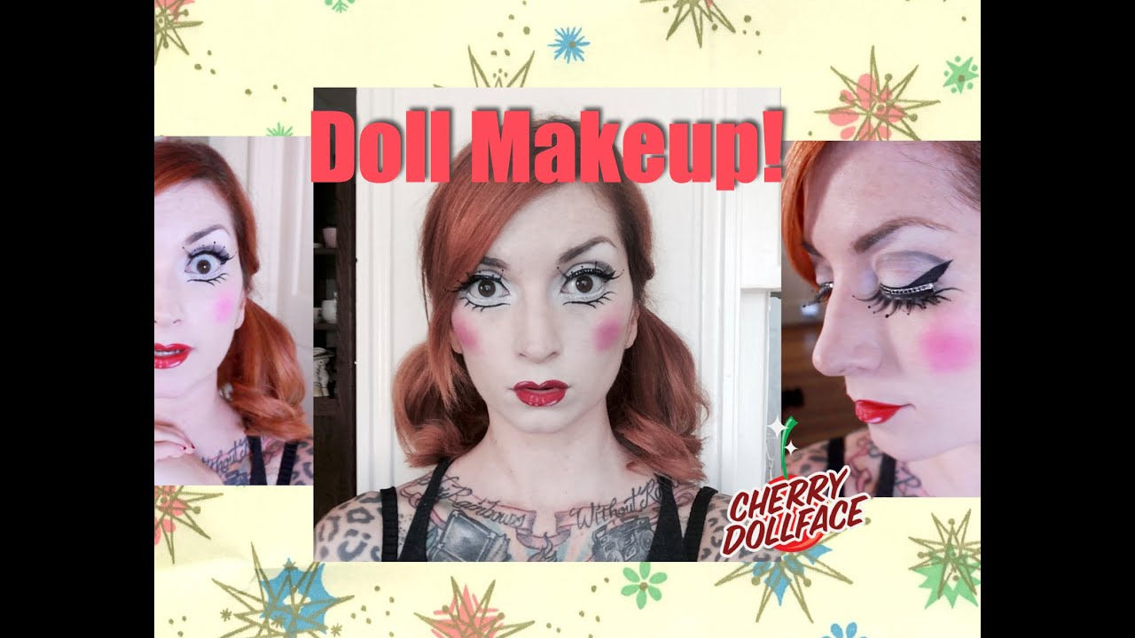 Baby Doll Halloween Makeup Tutorial! by CHERRY DOLLFACE - YouTube