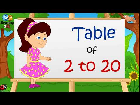 Table Of 2 To 20