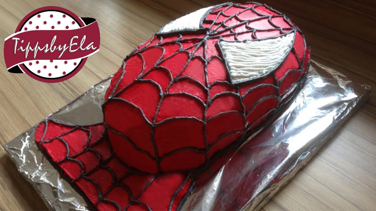how to make a spiderman cake spider man torte selber. Black Bedroom Furniture Sets. Home Design Ideas