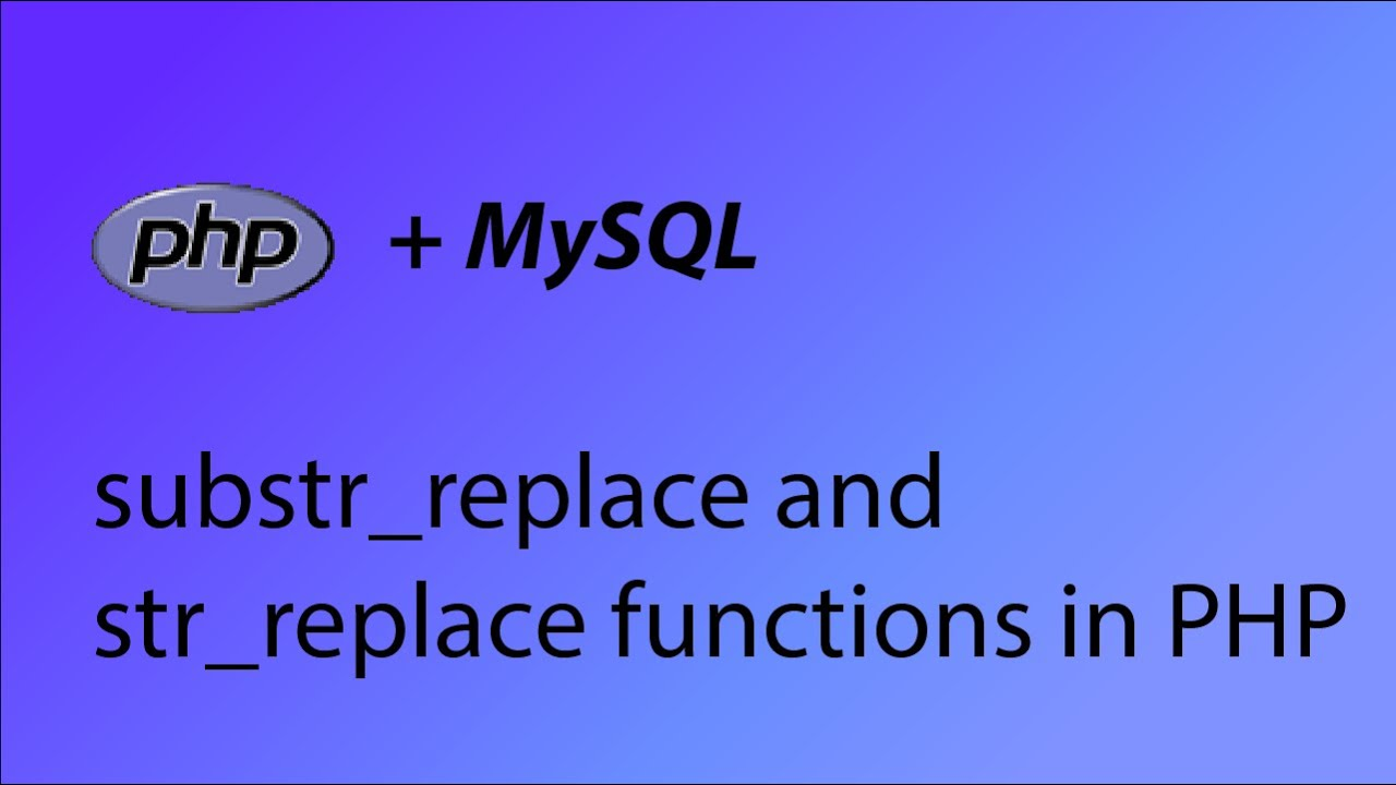 Substr_replace() function Pada script PHP