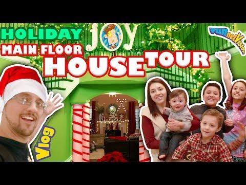 CHRISTMAS HOUSE TOUR 3 0  Main Floor Magical Holiday Fun! FUNnel V Fam Vlog w  FNAF Elf