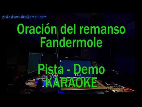 Karaoke Oración del remanso - Pista DEMO