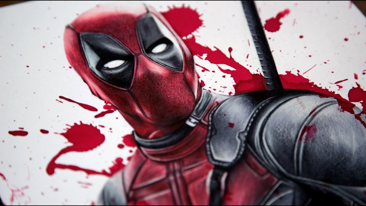 Deadpool Speed Drawing - YouTubeDeadpool Sketch