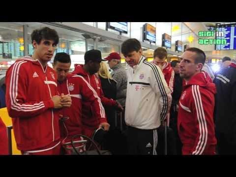 FC BAYERN MÜNCHEN: Abflug ins Trainingslager nach Doha @ Flughafen München am 05.01.2014