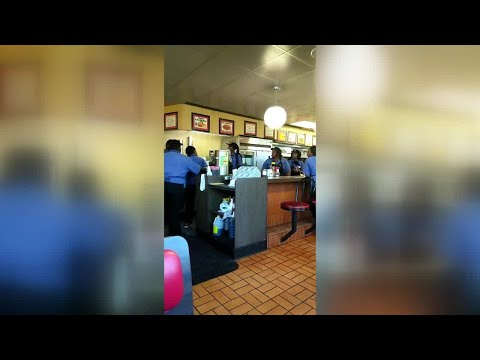 Jordan - Waffle House Employees Fight Over Who's Does The Dishes