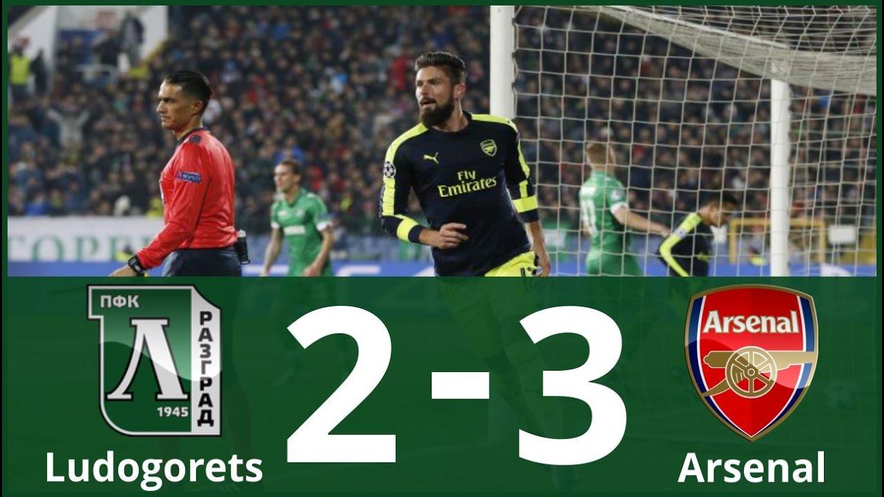 Ludogorets Razgrad Vs Arsenal 2 3 Highlights Goals Uefa