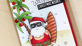 Warm Christmas Wishes - Simple Copic Coloring - STAMPtember