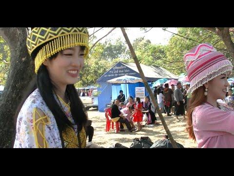 Hmong Women at KM52 Village Laos New Year 2015