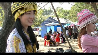 Hmong Women at KM52 Village Laos New Year 2015