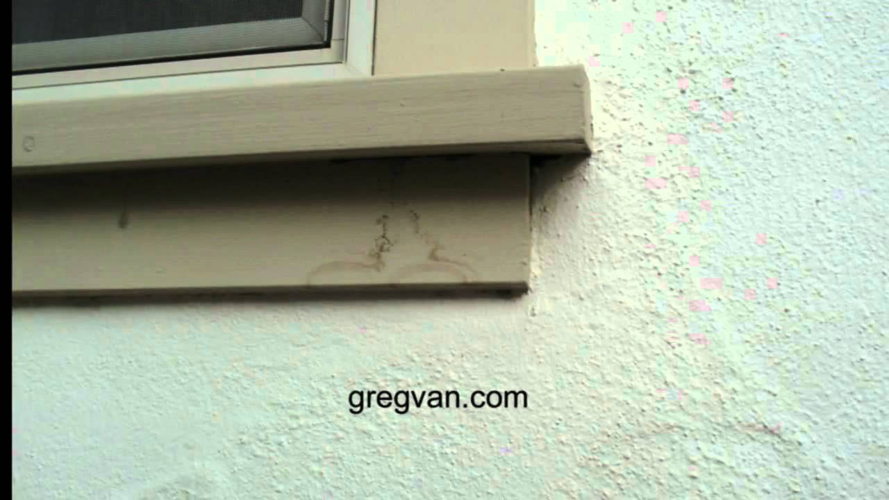 Wood Window Sill Stains Exterior House Maintenance Tips