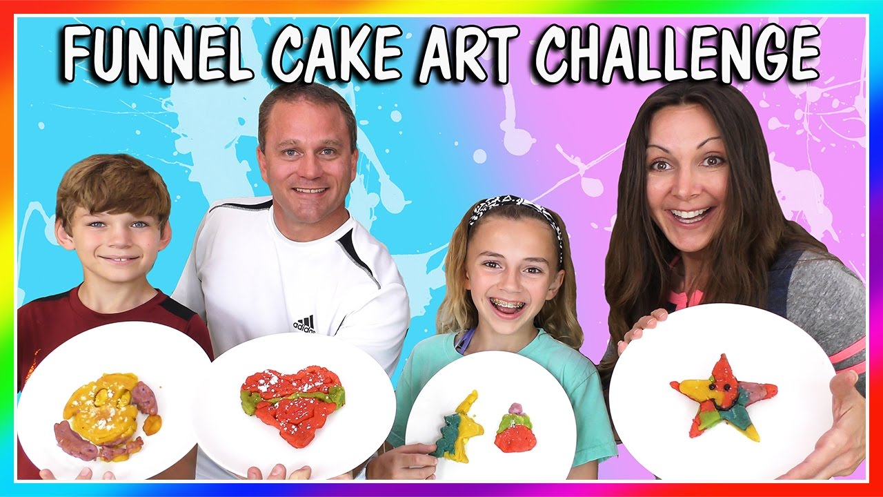 FUNNEL CAKE ART CHALLENGE We Are The Davises - YouTube