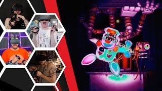 Let's Players Reaction To Pizza Party Scary & Funny Moments | FNAF VR: Help Wanted