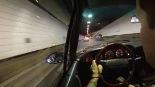 Porsche 964 Turbo 3.6 in tunnel !!!