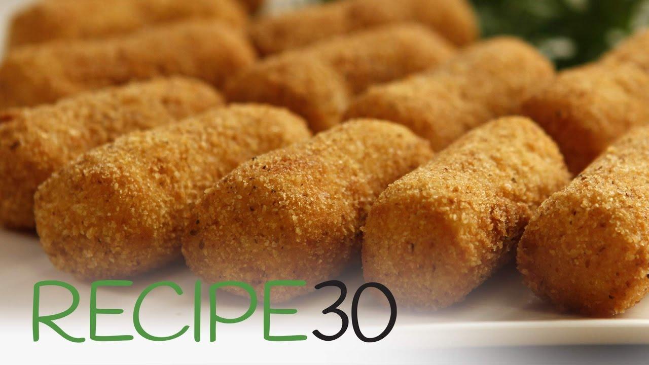 Classic Potato Croquettes - By RECIPE30.com - YouTube