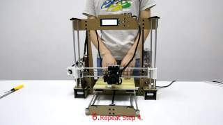 3d printer instruction anet 3d printer a8 debugging video