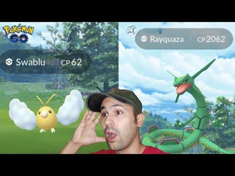 OMG!! SHINY SWABLU + MY HIGHEST RAYQUAZA - POKEMON GO