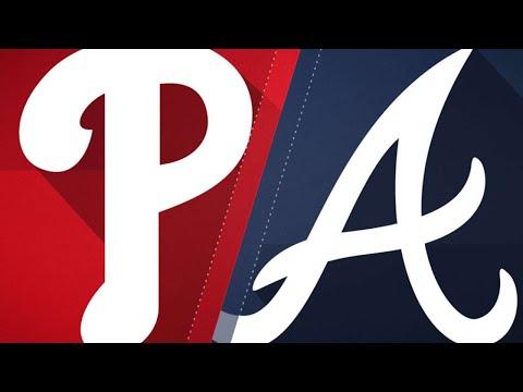 Adams, bullpen lead Braves past Phils, 2-1: 9/23/18