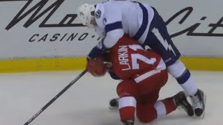 Larkin and Stamkos go at it - Roughing Penalties