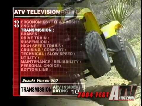 hqdefault atv television quicktest 2004 suzuki vinson 500 4x4 youtube