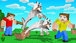 Every Block You BREAK In Minecraft SPAWNS WOLVES! (multiplies)