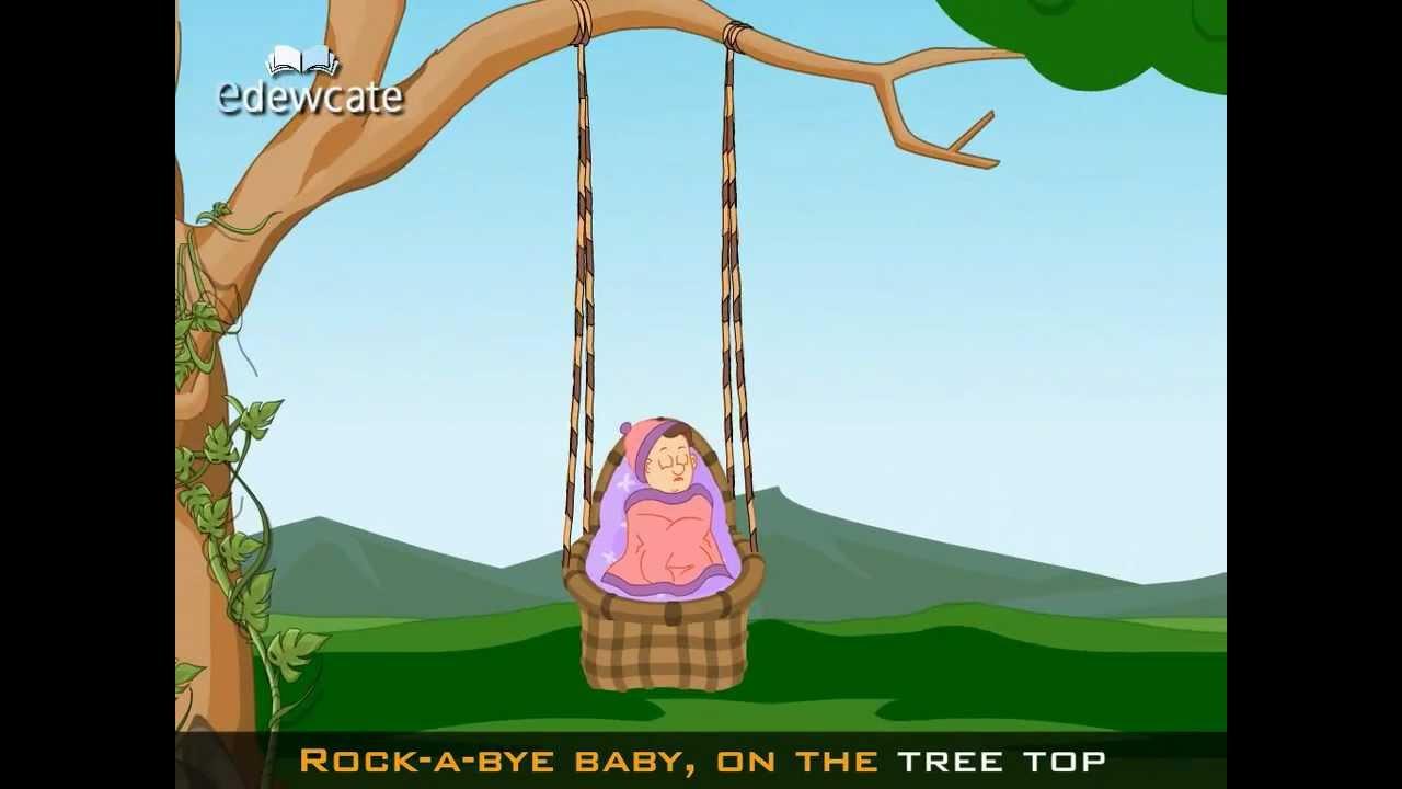 Edewcate English Rhymes Rock A Bye Baby Lullaby Rhyme
