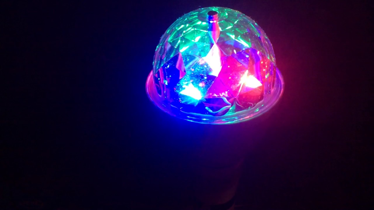 Jml disco led light bulb ball ceiling or plug in lamp youtube jml disco led light bulb ball ceiling or plug in lamp aloadofball Images