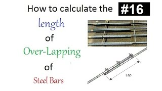 How to calculate the over-lapping length of steel bars in slab,column and beam in Urdu/Hindi