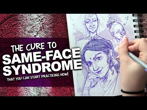 DOES EVERY FACE YOU DRAW LOOK THE SAME? | More Pen Sketches | DrawingWiffWaffles