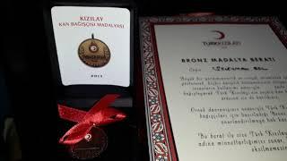 Kızılay Kan Bağışı - Türk Kızılay Kan Bağışı - Kızılay Kan Bağışı Ödülleri ( BRONZ MADALYA )