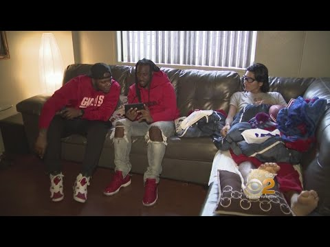 CBS2 Exclusive: Giants Players Visit Teen Recovering After Being Hit By Car