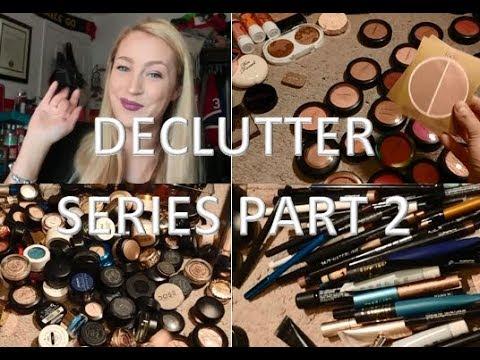 Declutter Series Part 2   Eyeshadows, Eyeliners, Mascara + Blush