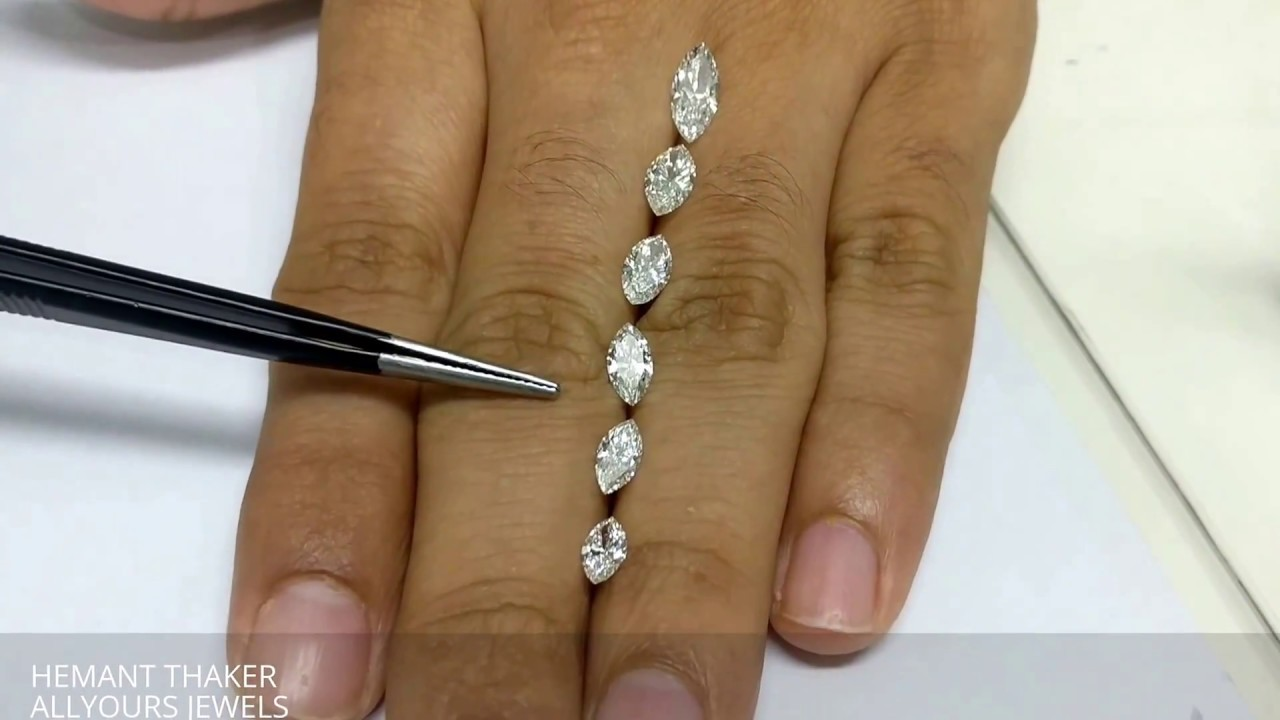 Marquise Shape Diamonds Size Comparison On Hand Youtube