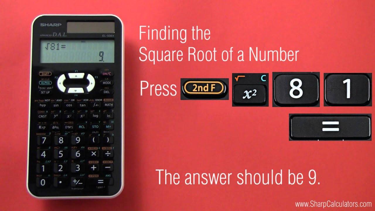 tutorial roots for sharp el 506xb youtube rh youtube com Parts for Sharp Calculator EL 1197 III sharp scientific calculator el-506w manual