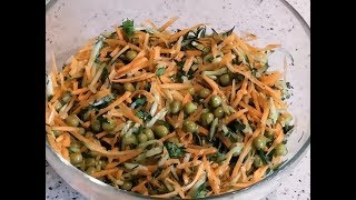 Легкий вкусный полезный салат на каждый день из доступных свежих овощей