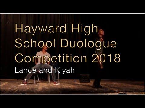 Hayward High School Duologue Competition 2018 - Lance and Kiyah