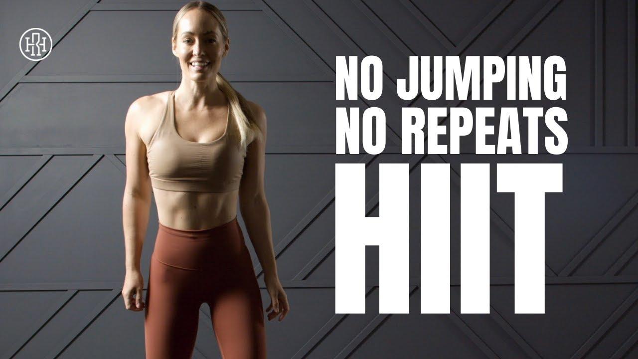 Low Impact No REPEATS HIIT Workout (No Equipment)