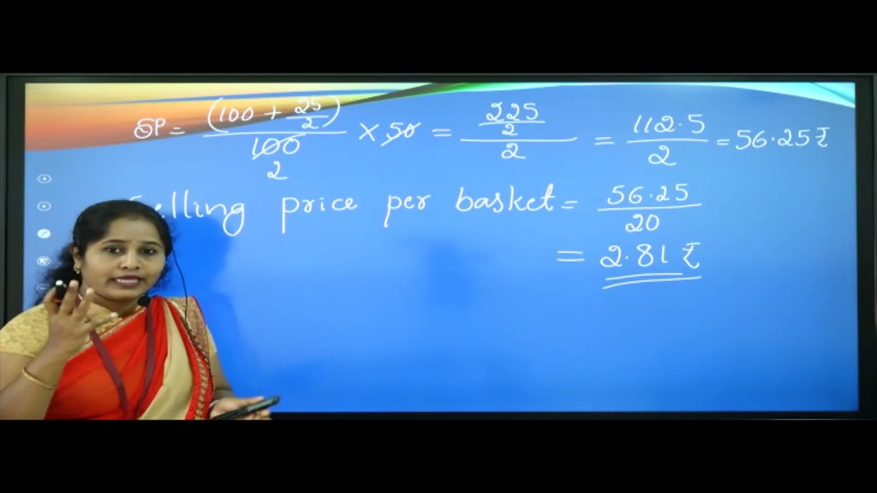 I PUC |Basic maths | Percentage, Profit and loss-06