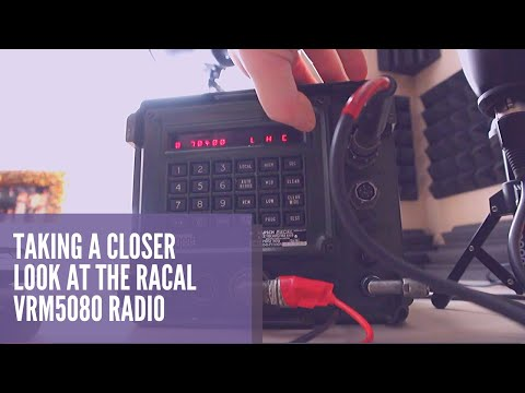 OPERATING The Racal VRM5080 Military Radio