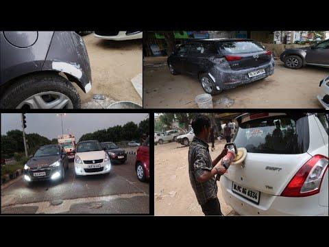 My Car Accident  Car Bumper Repair  Car Denting Painting  Car Rubbing  Hyundai i20  Swift