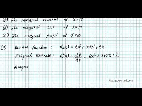 marginal cost profit revenue Economics Calculus
