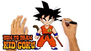 How to Draw Kid Goku (Dragon Ball)- Kids Art Lesson