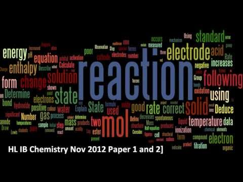 Wordle IB HL Exam Paper 1 and 2  (Nov 2012)