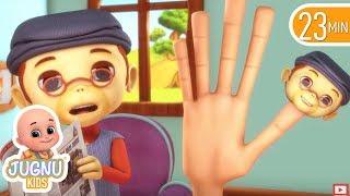 funny baby monkey finger family | Jugnu Kids  Nursery Rhyme & Kids Songs