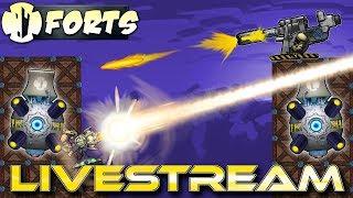 Saturday Night LiveStream! (Forts Multiplayer Gameplay) - Forts RTS - Livestream