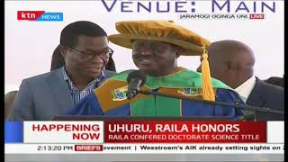 Raila Odinga receives Doctoral of Sciences Honors during 6th Jaramogi University Graduation ceremony