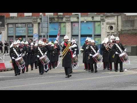 The Band of HM Royal Marines Portsmouth, HMS Cambria Freedom of Swansea Parade