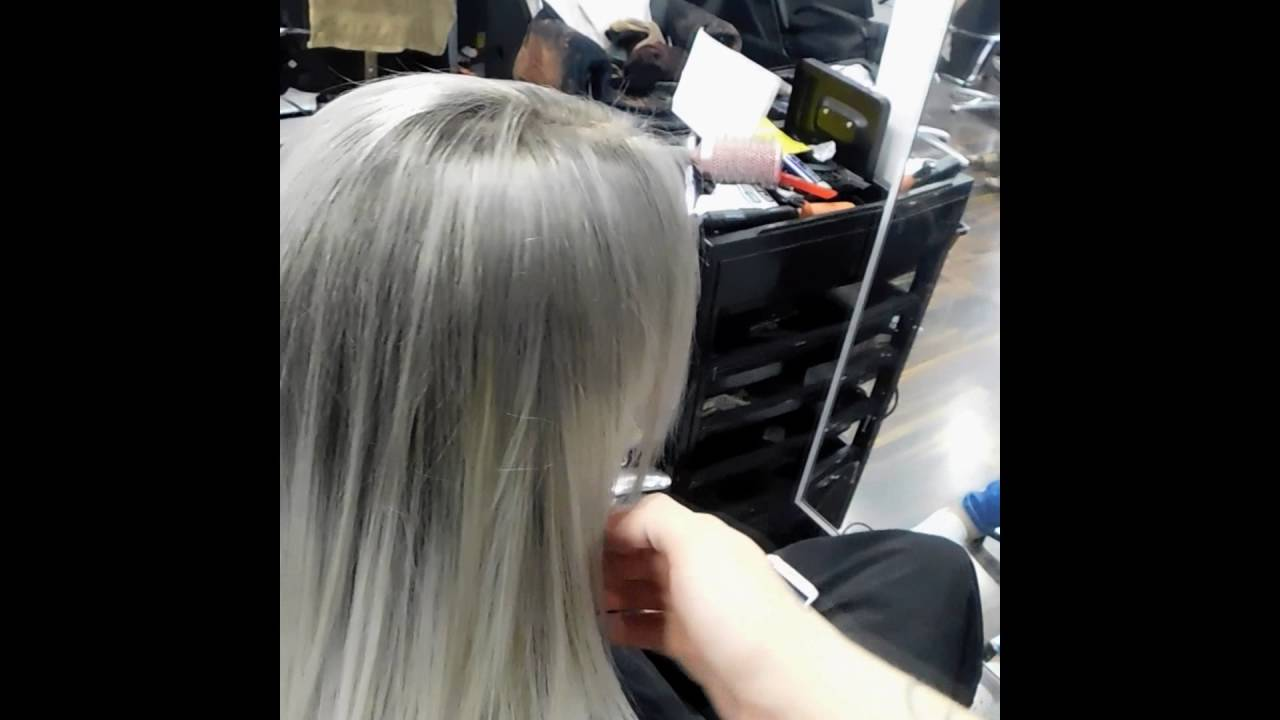 Grey And Silver Ombre Hair Tutorial Alfaparf Colours And